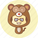 animal, avatar, costume, cute, kawai, monkey icon