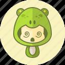 animal, avatar, costume, cute, frog, kawai