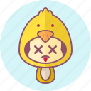 animal, avatar, chicks, costume, cute, kawai icon