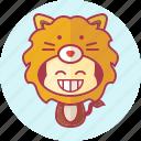 animal, avatar, costume, cute, kawai, lion