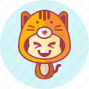 animal, avatar, cat, costume, cute, kawai icon