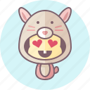 animal, avatar, costume, cute, kawai, rabbit icon