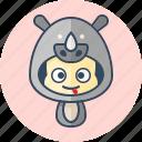 animal, avatar, costume, cute, kawai, rhino