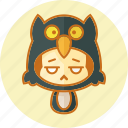 animal, avatar, costume, cute, kawai, owl icon