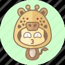 animal, avatar, costume, cute, giraffe, kawai