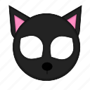 animal, cat, kawaii, mask, pet icon