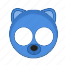 animal, bear, blue, kawaii, mask, pet icon