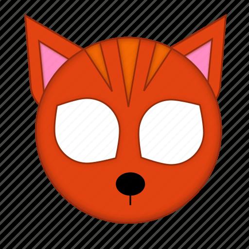 animal, cat, ginger, kawaii, mask, pet, strapped icon