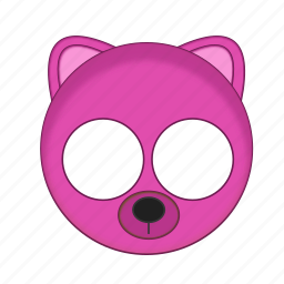 animal, bear, kawaii, mask, pet, pink icon