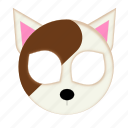 animal, brown, cat, pet, white cat icon