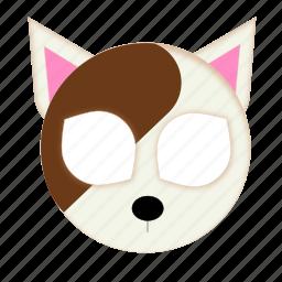 animal, brown, cat, pet, white cat icon