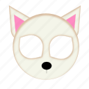 animal, cat, pet, white cat icon
