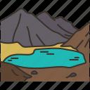 almaty, lake, nature, mountain, landscape