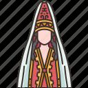national, costume, traditional, ethnic, kazakh