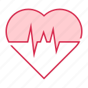 cardiogram, health, heart, pulse, rate icon
