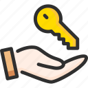 fall, hand, hold, key, security