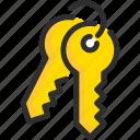 key, lock, padlock, security, stack
