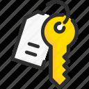 key, lock, padlock, security, tag