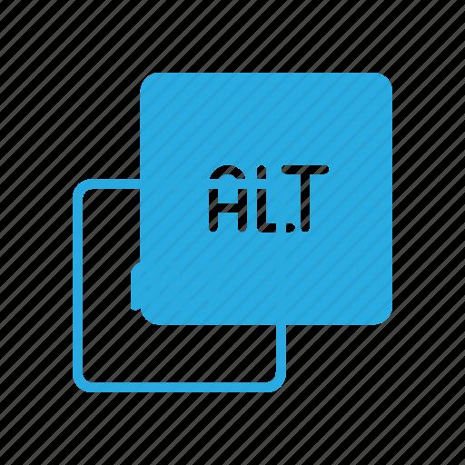 alt, keyboard, type icon