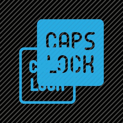 caps, keyboard, lock, type icon