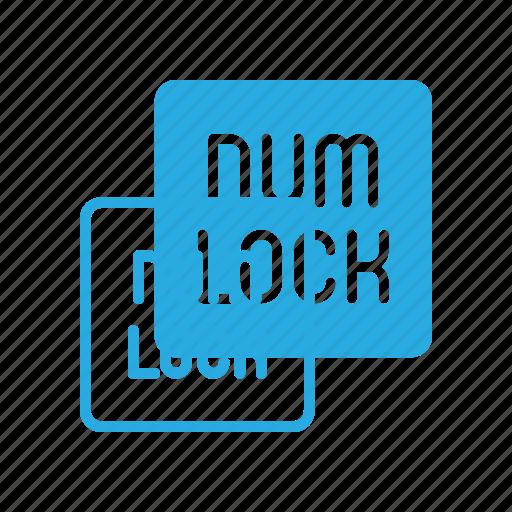 keyboard, lock, num, type icon