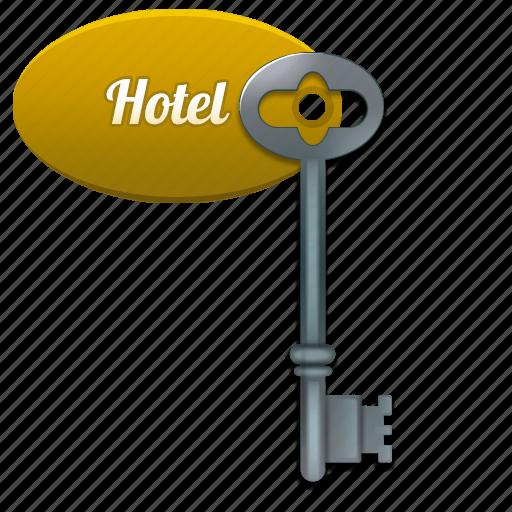 guest, hotel, key icon