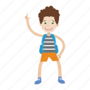 boy, character, cartoon, kid