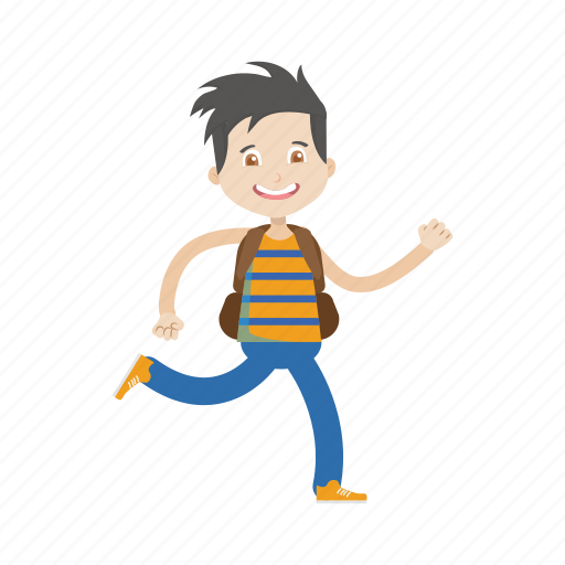 Boy, character, kid, running icon - Download on Iconfinder