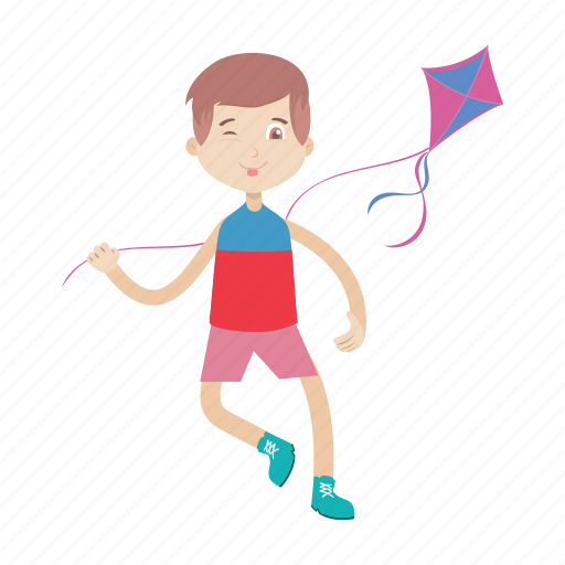Boy, kid, kite, play icon - Download on Iconfinder