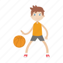 basketball, boy, character, kid, sport