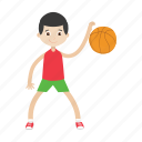 basketball, boy, character, kid