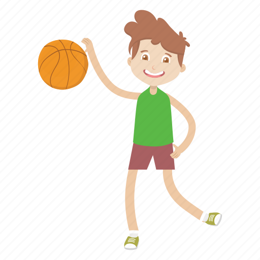 basketball, boy, character, kid, sport icon