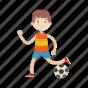 boy, football, kid, play, soccer