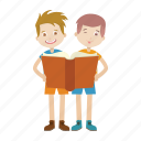 boy, kid, learning, read, reader icon