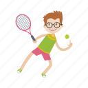 boy, character, kid, sport, tennis