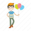 boy, balloon, character, kid