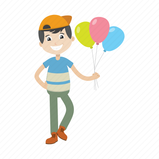Balloon, boy, character, kid icon - Download on Iconfinder