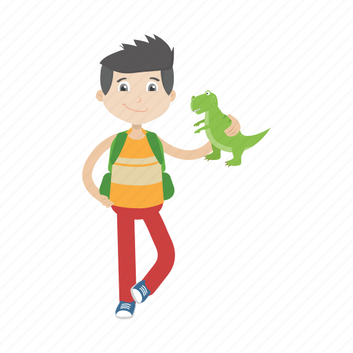 boy, character, kid, toy icon
