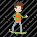 boy, ride, sport, skateboard, kid