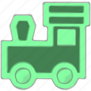 kids toy, locomotive, playng, train icon