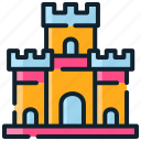 brick, building, castle, child, building blocks, toy bricks icon