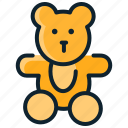 animal, baby, bear, cute, kids, teddy, toys icon