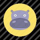 africa, animal, hippo, hippopotamus, kids, mammals, wild animals icon