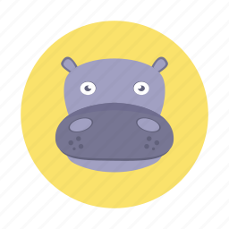 africa, animal, hippo, hippopotamus, kids, mammals, wild animals icon