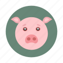 animal, children, kids, pig, toy icon
