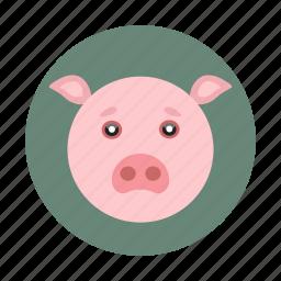 animal, children, kids, pig, toy icon