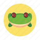 amphibians, animal, children, frog, kids icon