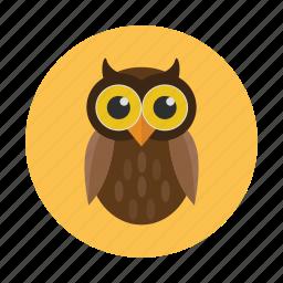 bird, children, kids, nocturnal, owl, owlet icon