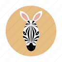 africa, animal, children, kids, mammals, zebra icon