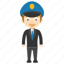 animated policeman character, kid cop cartoon character, cop character, child policeman, young cop cartoon